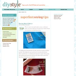 DIY Style :: Sewing Tips