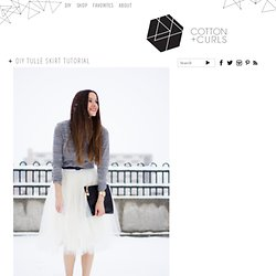 DIY tulle skirt tutorial