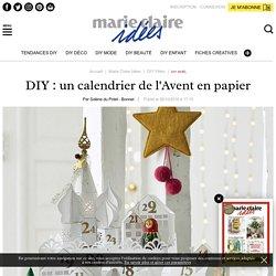 DIY: un calendrier de l'Avent en papier