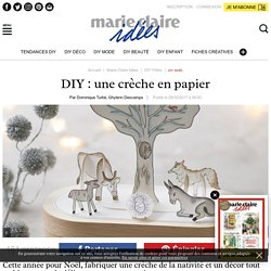 DIY: une crèche en papier