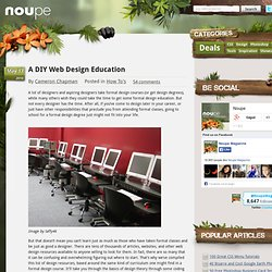 A DIY Web Design Education
