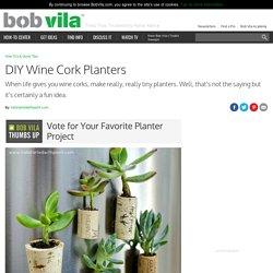 DIY Wine Cork Planters