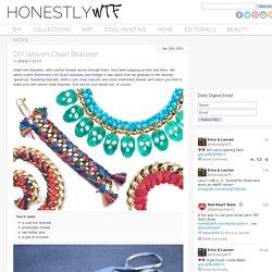 Bracelet chaine/ fils coton