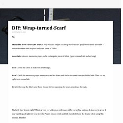 DIY: Wrap-turned-Scarf