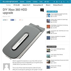 DIY Xbox 360 HDD upgrade