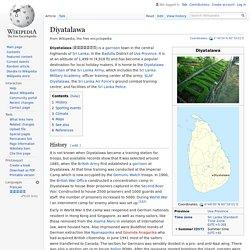 Diyatalawa - Wikipedia