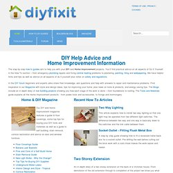 Diy Fix It home improvement advice guides and tips : help and re