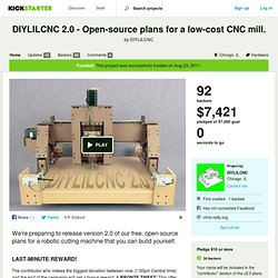 DIYLILCNC 2.0 - Open-source plans for a low-cost CNC mill. by DIYLILCNC