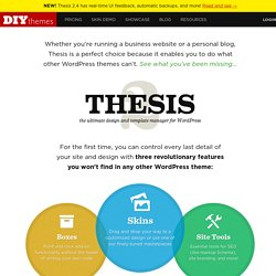 DIYthemes — Run a Killer Website with the Thesis Theme for WordP