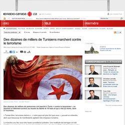 Des dizaines de milliers de Tunisiens marchent contre le terrorisme