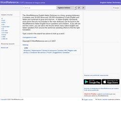 Dizionario inglese-italiano - WordReference