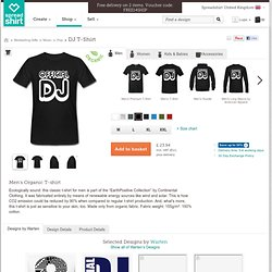 Black DJ Men's T-Shirts | Men's Earth Positive T-Shirt designed by Warten | Spreadshirt | ID: 13212908