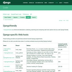 DjangoFriendlyWebHosts