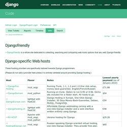 DjangoFriendlyWebHosts