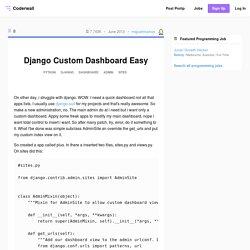 Django Custom Dashboard Easy (Example)