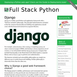 Django - Full Stack Python