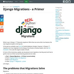 Django Migrations - A Primer - Real Python