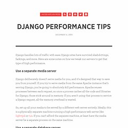 Django performance tips