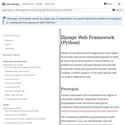 Django Web Framework (Python)