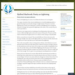 Djelloul Marbrook: Poetry as Lightning