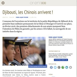 Djibouti, les Chinois arrivent !
