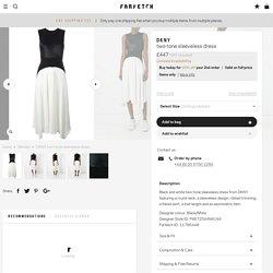 DKNY Two-tone Sleeveless Dress - Farfetch