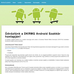 DKRMG Android Szakkör Kezdőlap