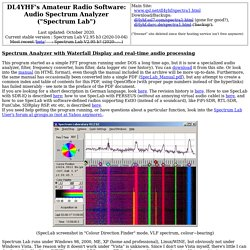 DL4YHF's Audio Spectrum Analyser