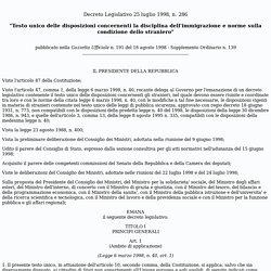 Dlgs 286/98