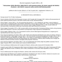 Dlgs 68/03: modifiche al testo del 41 (art.70)