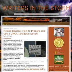 DMCA Notices: How to Prosecute Piracy