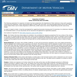 DMV: Inspection of Trailers