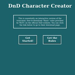 DnD Character Creator