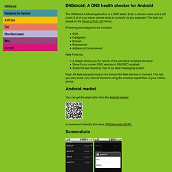 DNSdroid: A DNS health checker for Android