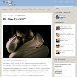 Do I Have Insomnia? - SlumberWise