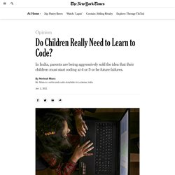Do Kids Really Need to Learn to Code?