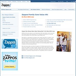 Do More With Less - Zappos