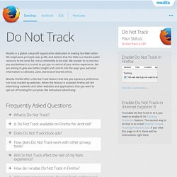 Firefox Web Browser — Do Not Track