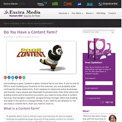 Do You Have a Content Farm?