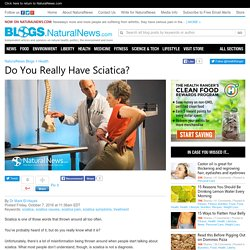 Do You Really Have Sciatica?
