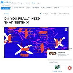 Do you really need that meeting?