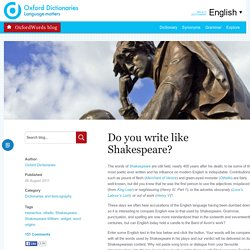 How Shakespearean are you?