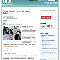 How to Do Your Laundry in College in 7 Steps
