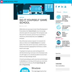 Do-It-Yourself Game School