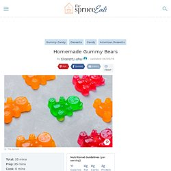 Do-It-Yourself Gummy Bears Recipe