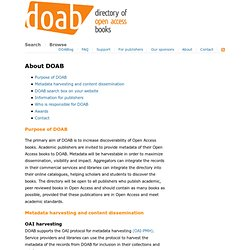 DOAB: Directory of Open Access Books