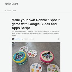 Make your own Dobble / Spot It game with Google Slides and Apps Script