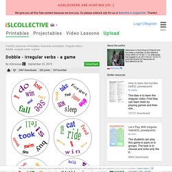 Dobble - irregular verbs - a game worksheet