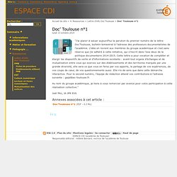 Doc' Toulouse n°1 - ESPACE CDI