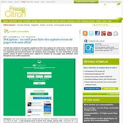 DoCapture : un outil pour faire des captures écran de pages web sans effort